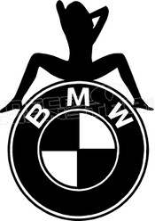 BMW Hot Girl Decal Sticker