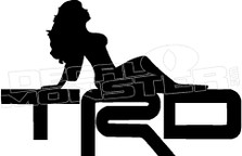 TRD Hot Girl Decal Sticker