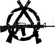 Anarchy Gun 1 Decal Sticker