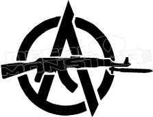 Anarchy Gun 2 Decal Sticker