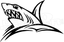 Angry Shark Silhouette 1 Decal Sticker