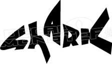 Shark Wording 3 Decal Sticker
