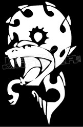 Viper Snake Silhouette 10 Decal Sticker