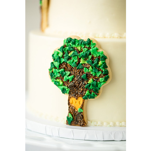 Monogram Tree Cookie Cake