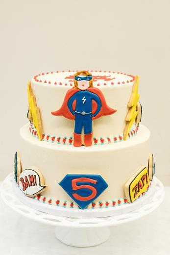 Superhero Cookie Cake