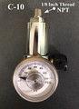 GASCO 70-THREAD-Series THREADED 1/8 Outlet Calibration Gas Regulator Fixed 2.1 LPM C-10 Connection