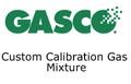 GASCO 0.1% Methane, 0.1% Ethane, 0.1% Ethene, 0.1% Isobutylene, Balance Nitrogen cylinder volume of 4.5ft3, style ND135, CGA-180