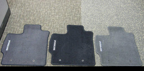 Comparison of the three colors. From L to R, they are Dark Grey, Black, and Misty Grey.