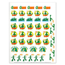 12 Gumby Stretch For Excellence Motivational Sticker Sheets
