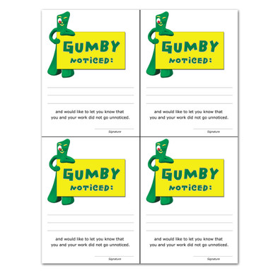 """""""Gumby Noticed"""" Notes"""