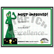 "Gumby Certificate ""Most Improved"" 2018-2019"