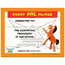 "Pokey Certificate ""Pokey PAL Award"" 2018-2019"