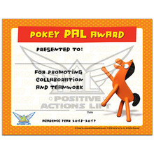 Pokey PAL Staff Certificate 2018-2019