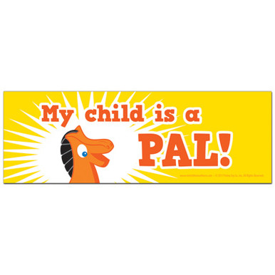 "25 Pokey ""My child is a PAL!"" Bumper Stickers"