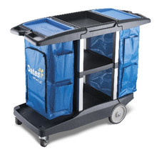 Oates Dual Handle Platinum Housekeeping Cart.