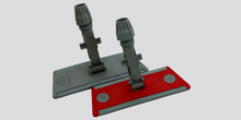 Flat Mop Holder Velcro 30cm RED