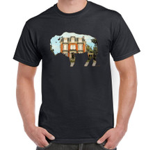 Mansion on Delaware,Buffalo Mansion,Buffalo NY,Buffalove,Mens Black T Shirt,Buffalo Treasures,Feel Good Greetings ink