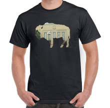 The Aud,Buffalo Memorial Auditorium,Buffalo NY,Buffalove,Mens Black T Shirt,Buffalo Treasures,Feel Good greetings ink