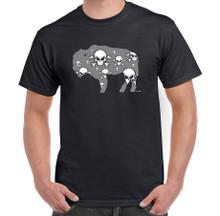 Skull and Crossbones,Gen X,Skateboard,Heavy Metal,Rock and Roll,Buffalo NY,Buffalove,Mens Black T Shirt,Buffalo Treasures,Feel Good greetings ink