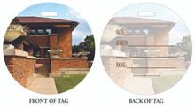 Darwin Martin, Darwin Martin House, Luggage tag, ID Tag, Buffalo Luggage Tag, Buffalo ID tag, Buffalo, Buffalo NY