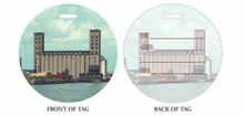 Grain Elevators, Luggage tag, ID Tag, Buffalo Luggage Tag, Buffalo ID tag, Buffalo, Buffalo NY