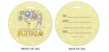 Time, Good time, Time in Buffalo, Luggage tag, ID Tag, Buffalo Luggage Tag, Buffalo ID tag, Buffalo, Buffalo NY