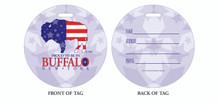 Proud to be in Buffalo NY, Buffalo Pride, Pride in Buffalo, Luggage tag, ID Tag, Buffalo Luggage Tag, Buffalo ID tag, Buffalo, Buffalo NY