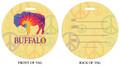 Peace, Buffalo Peace, Peace in Buffalo, Grateful Dead, Dead heads, Luggage tag, ID Tag, Buffalo Luggage Tag, Buffalo ID tag, Buffalo, Buffalo NY