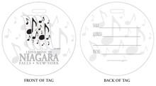 Music Time, Niagara Vacation, Niagara Falls, Music in Niagara Falls, Luggage tag, ID Tag, Niagara Luggage Tag, Buffalo ID tag, Niagara Falls, NY