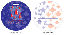 Good Neighbors in Niagara Falls, NY, Niagara Vacation, Niagara Falls, Neighbors in Niagara Falls, Luggage tag, ID Tag, Niagara Luggage Tag, Niagara ID tag, Niagara Falls, NY