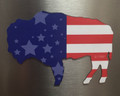 Flag In BUFFALO Magnet