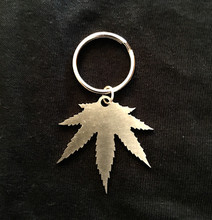 Stainless Steel,Key Chain,Marijuana,Pot,Cannabis,