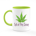 J-CupZ - 11 oz. Ceramic Mugs with green handle and inside.