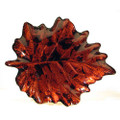 Glass Leaf Black/Brown Plate from Turkey