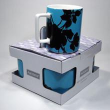 Ashdene - Black Bloom 4 Pack  Porcelain Mugs