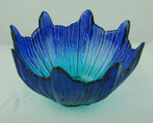 Martinvale Blue Glass Girasol Bowl 18cm