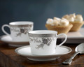 Hayden  Espresso  Cup & Saucer  Pair Set  (Set for 2)