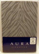 Zebra  Tailored  Pillow  Case  Silver  Shimmer