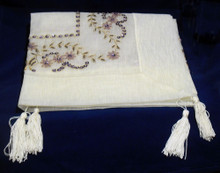Hand  Beaded  Square  Table  Topper  85cm
