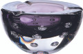 Bubble Ashtray.  A Beautiful Hand made designer style ashtray, luxurious shade of purple. Height 90mm Depth 180mm