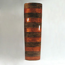 Straight  Vase with Coconut Inlay