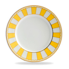 Carnivale is a stunning new range of fine white porcelain teaware featuring six different vibrant pastel shades. The combination of colour and wonderful French design ethic is further enhanced by 22K gold lining, creating a look of elegant sophistication.  White Fine China  21 CM Diameter