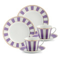 Cup x 2, 75 ml, Saucer x 2 Size:(D)13 cm  &, Cake Plate x 2  Size: (D) 21 cm