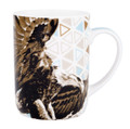 Wilderness Collection Designed By Longina Phillips Studio, Large Can Mug in Coordinated Gift Box. Bone China  Capacity 370 ML  Size L 11 x W 8 x H 10.5 cm