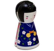 Japanese Doll Magnetic Salt and Pepper Set 10 cm