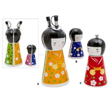 Japanese Doll Set, Magnetic Salt & Pepper, Magnetic Oil & Vinegar, Pepper Mill.