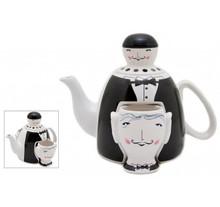 Waiter Design Tea pot w/Two Cups 23 cm