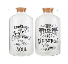 Want Home & Gift Oversized Bottle W/Cork This Kitchen and  Oversized Bottle W/Cork Lid Cooking with Love.