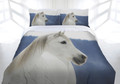 Snowy Horse Quilt Cover Set Queen Size By Just Home Bed Linen