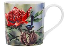 Ashdene Australian Bird & Flora Blue Wren & Waratah